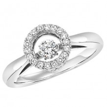 10K White Gold 1/4ct Diamond Rhythm Of Love Ring