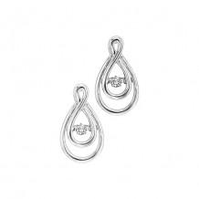 14K White Gold 1/8ct Diamond Rhythm Of Love Earrings