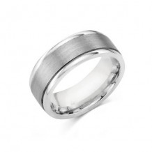 Camelot Sterling Silver Engraved Noble Wedding Band