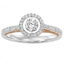14k White Gold 1/2ct Diamond Rhythm Of Love Ring