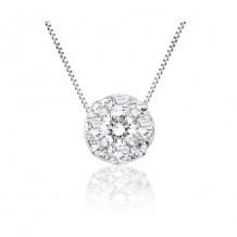 14K White Gold 0.51ct Diamond Pendant