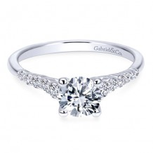 14k White Gold Gabriel & Co. 0.26ct Diamond Engagement Ring