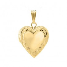 14K Yellow Gold embossed Heart Child's Locket