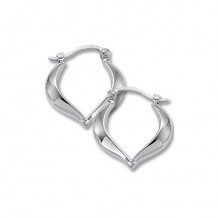 Carla 14K White Gold Small Heart Shaped Hoop Earrings