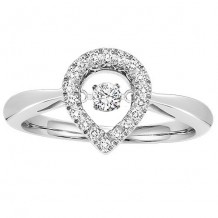 10K White Gold 1/5ct Diamond Rhythm Of Love Ring