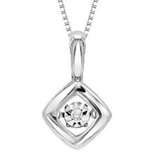 10K White Gold Diamond Rythm Of Love Pendant