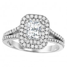 14k White Gold 5/8ct Diamond  Semi Mount Engagement Ring