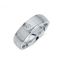 Camelot 10k White Gold Diamond Wedding Band