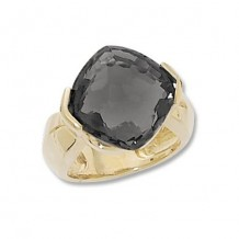 Carla 14k Yellow Gold Cushion Onyx Ring