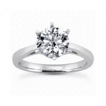 14k White Gold Semi-Mount Solitaire Engagement Ring