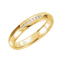 Stuller 14k Yellow Gold 1/10ct Diamond Wedding Band