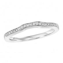 14k White Gold 1/10ct Diamond Wedding Band