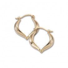 Carla 14K Yellow Gold Small Heart Shaped Hoop Earrings