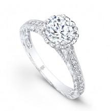 Beverley K 14k White Gold 0.44ct Diamond Semi-Mount Engagement Ring