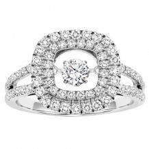 14k White Gold 1ct Diamond Rhythm Of Love Ring