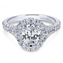14k White Gold Gabriel & Co. 0.71ct Diamond Engagement Ring