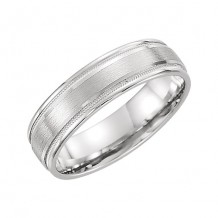 Stuller 14k White Gold Comfort Men's Wedding Band