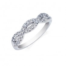 Camelot 14k White Gold Infinty Diamond Wedding Band