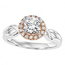 14k White Gold 1/10ct Diamond  Semi Mount Engagement Ring