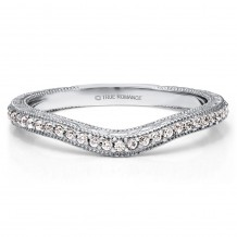 True Romance Platinum 0.14ct Diamond Wedding Band
