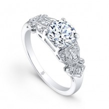 Beverley K 14k White Gold 0.12ct Diamond Semi-Mount Engagement Ring