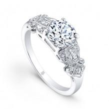 Beverley K 14k White Gold 0.12ct Diamond Semi-Mount Engagement Ring