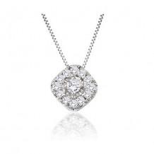 14K White Gold 0.19ct Diamond Pendant