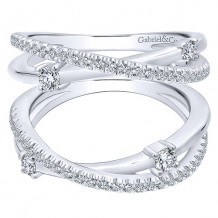 Gabriel & Co 14k White Gold 0.54ct Diamond Wedding Band