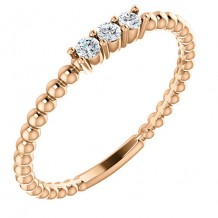 14k Rose Gold Stuller Diamond Stackable Ring