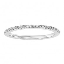 14k White Gold 1/10ct Diamond Wedding Band