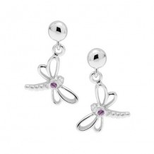 Sterling Silver Sapphire Dragonfly earrings