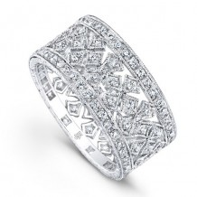 Beverley K 18k White Gold Diamond Band
