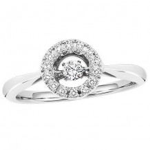 10K White Gold 1/5ct Diamond Rhythm Of Love Ring