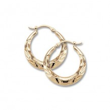Carla 14K Yellow Gold Wavy Shell Hoop Earrings