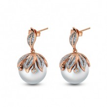 Imperial Pearl 14k Rose Gold Freshwater Pearl Earring