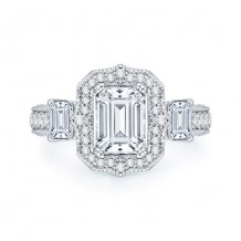 Shah Luxury 18k White Gold Diamond Boutique Engagement Ring