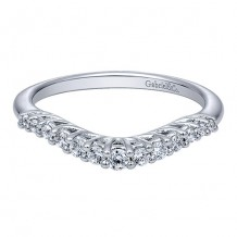 Gabriel & Co 14k White Gold 0.24ct Diamond Wedding Band