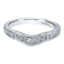 Gabriel & Co 14k White Gold 0.26ct Diamond Wedding Band