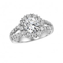 14k White Gold 3/4ct Diamond Engagement Ring with 1ct Center Stone