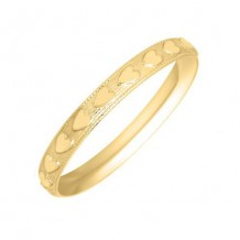 14K Yellow Gold Heart Band Baby's Ring