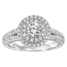 14k White Gold 7/8ct Diamond Engagement Ring with 1/2ct Center Stone