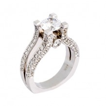 Jewelry Innovations 14K White Gold Semi Mount Engagement Ring