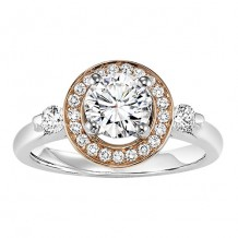 14k White Gold 1/3ct Diamond  Semi Mount Engagement Ring