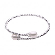 Imperial Pearl Sterling Silver Freshwater Pearl Brilliance Bead Bracelet