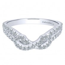 Gabriel & Co 14k White Gold 0.41ct Diamond Wedding Band