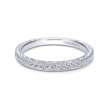 Gabriel & Co. 14k White Gold Victorian Eternity Wedding Band
