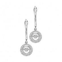 Sterling Silver 1/10ct Diamond Rhythm Of Love Earrings