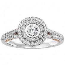 14k White Gold 1ct Diamond Rhythm Of Love Ring