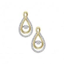 Sterling Silver & Yellow Gold Diamond Rhythm of Love Earrings