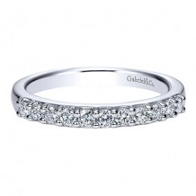 Gabriel & Co 14k White Gold 0.33ct Diamond Wedding Band
